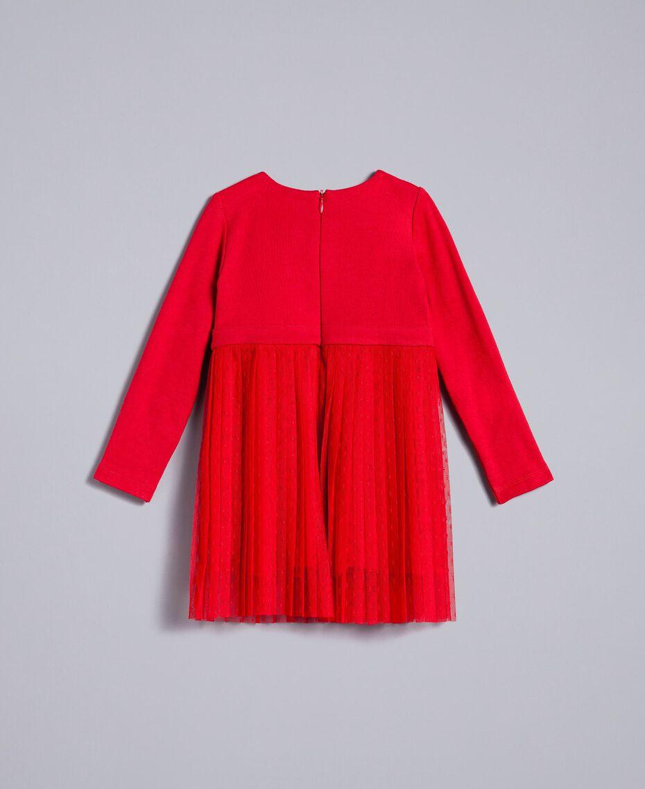 Robe en tulle plumetis Rouge Coquelicot Enfant FA82QN-0S