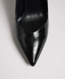 Patent leather court shoes Black Woman 192MCP038-03