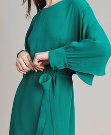 "Silk blend tunic dress ""Pepper Green"" Woman 191TP2147-02"