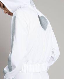 Sweatshirt with hood and zip White Woman 191LL25CC-05