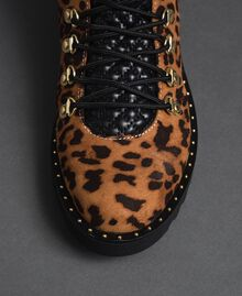 Animal print combat boots Animal Print Woman 192MCP09E-03