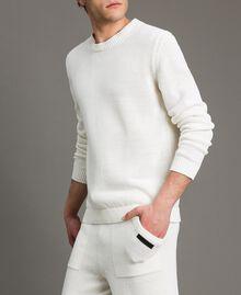 Maglia in misto cotone Bianco Opaco Uomo 191UT3082-02