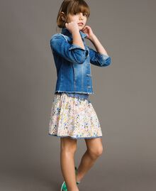 "Denim jacket with embroidery ""Mid Denim"" Blue Child 191GJ2480-03"