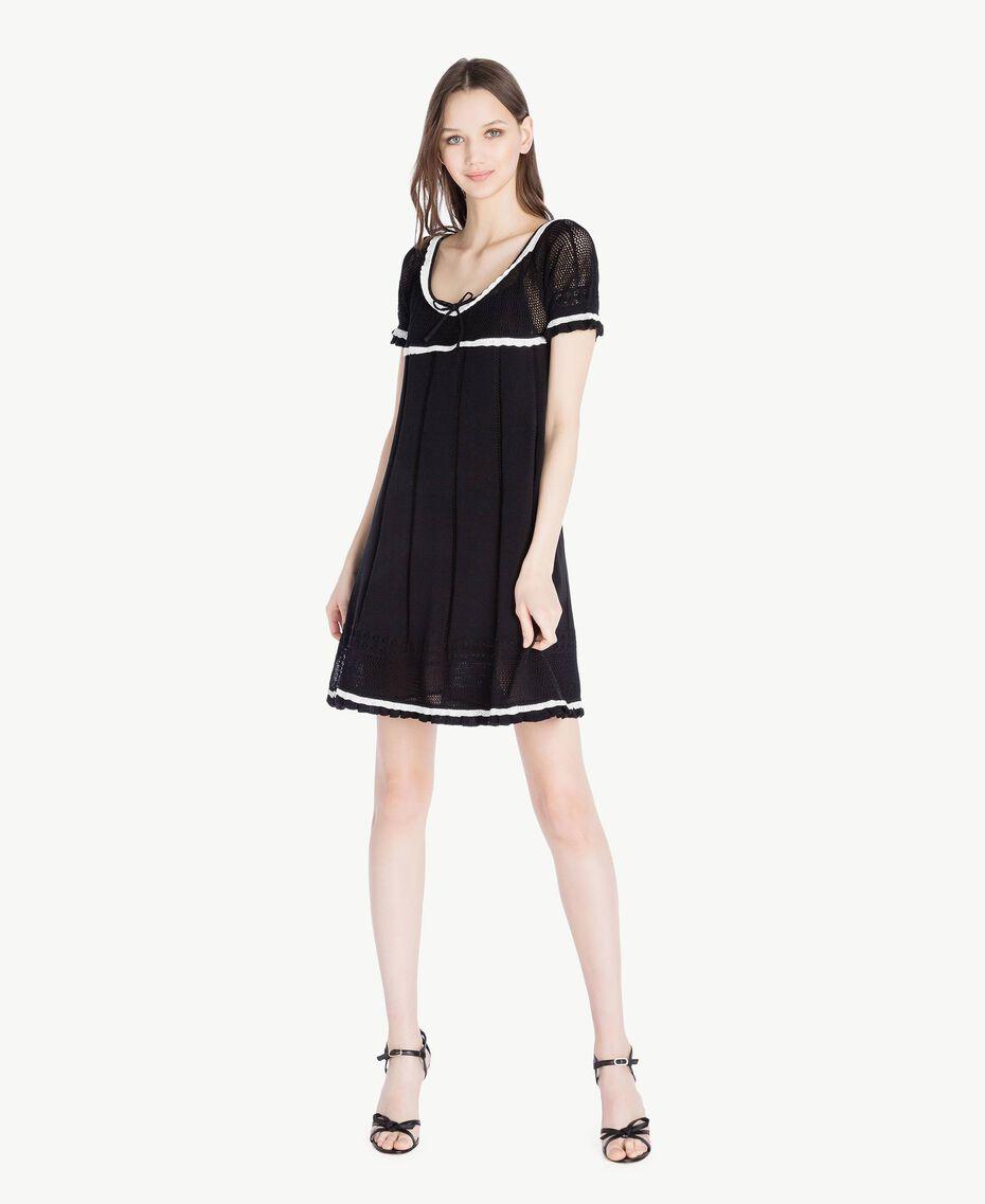 Cotton dress Black Woman TS83AN-01