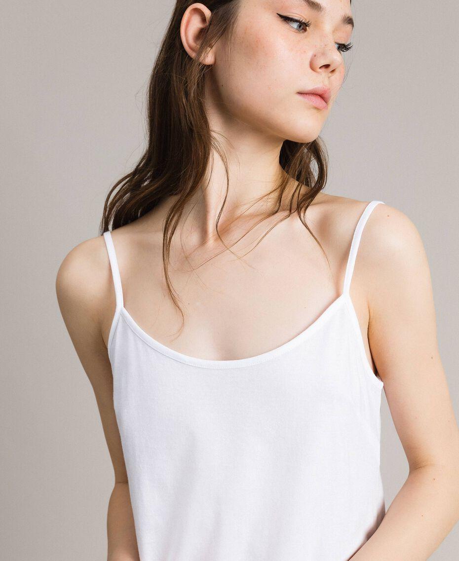 Kleid im Unterkleidstil mit Spitze Schwarz Frau 191TP260H-05