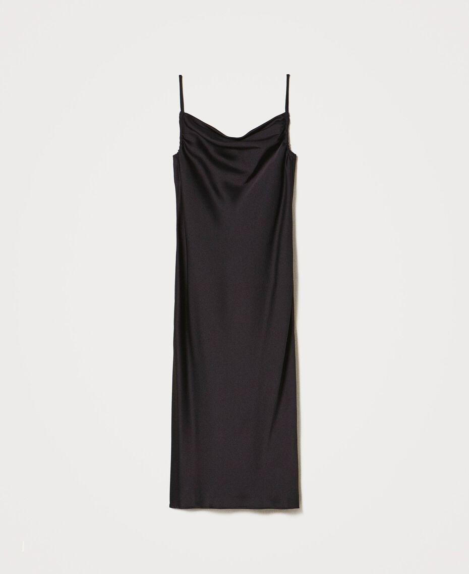 "Satin slip dress ""Nude"" Beige Woman 202MP2371-0S"