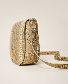 Animal print leather shoulder bag Pastel Skin Python Print Woman 202TD8050-03