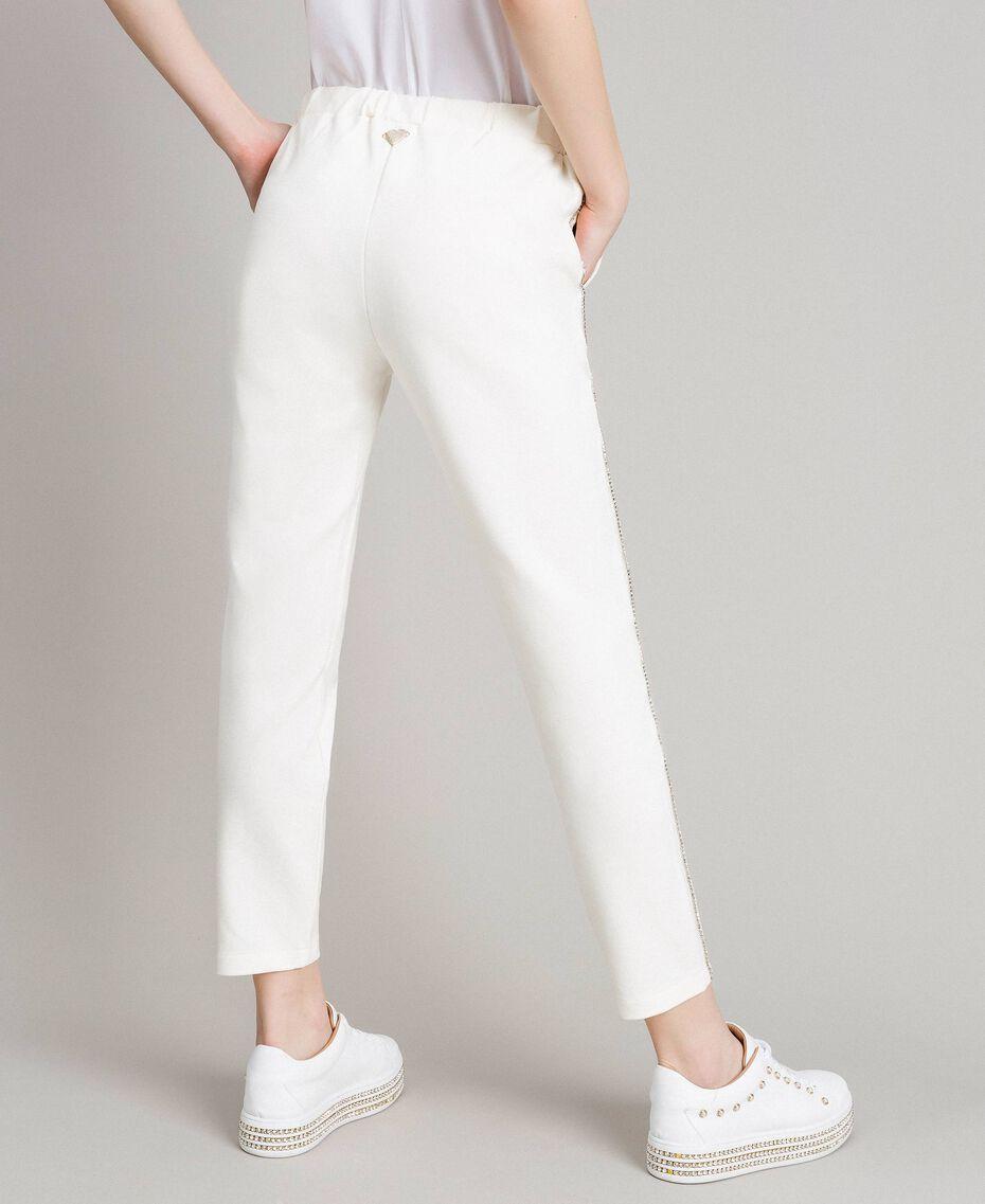 Pantalon cigarette strassé Blanc Femme 191LB22KK-05