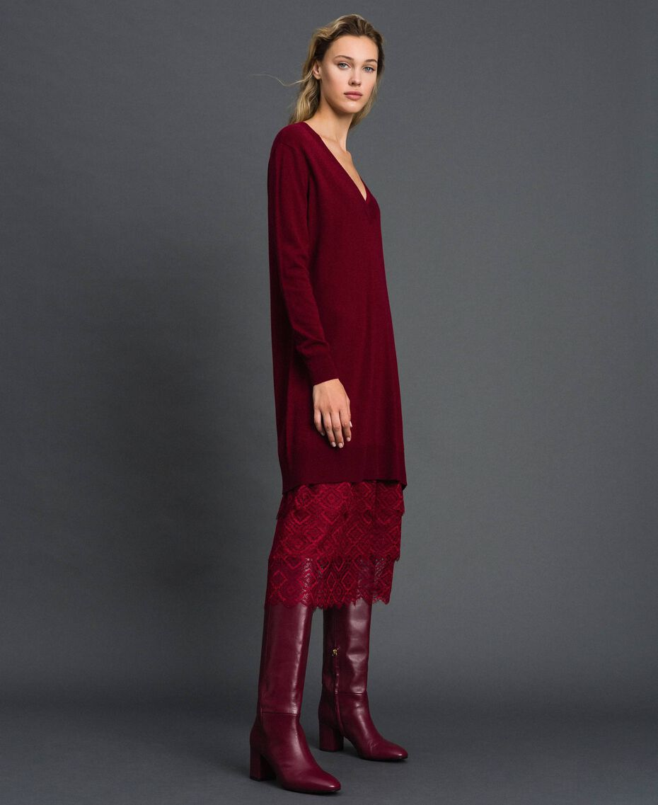 Knit dress with crêpe and lace slip Red Velvet Woman 192TT3084-02