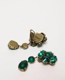 Boucles d'oreilles avec cabochons Vert «Green Jade» Femme 201TO5307-02