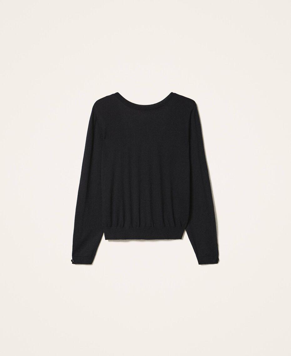 Jersey de seda y cachemira Negro Mujer 202TP3471-0S