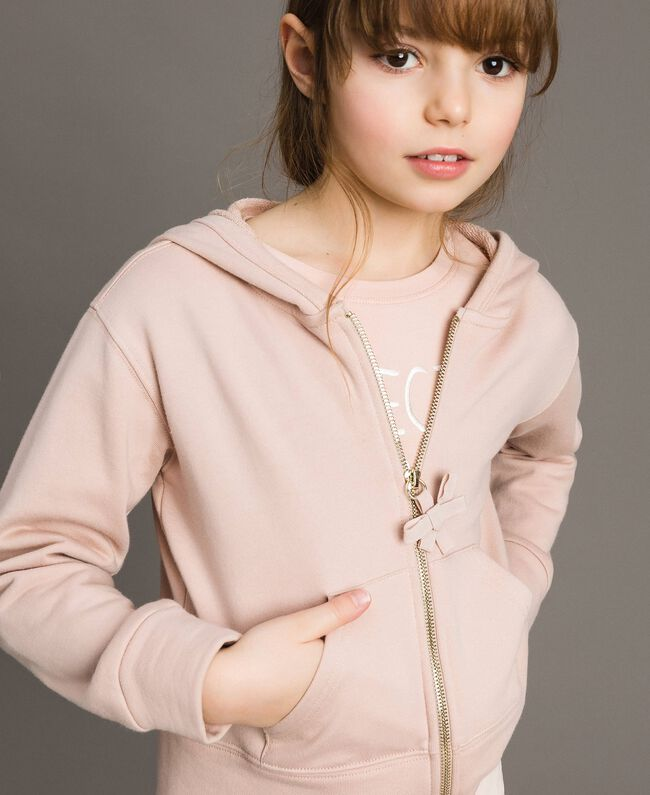 Cotton sweatshirt with bows Blossom Pink Child 191GJ2031-03