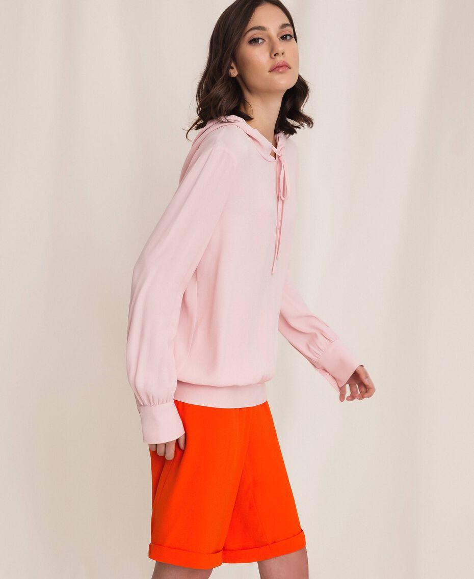 Georgette hoodie Moonlight Beige Woman 201LL2NFF-02