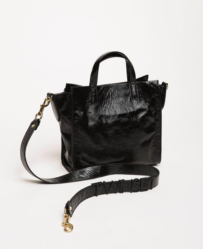 """Средняя кожаная сумка-шоппер с логотипом Розовый """"Джаз"""" женщина 201TO8091-04"""