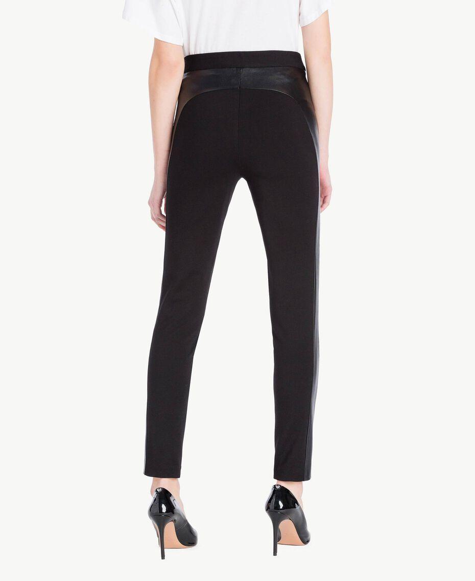 Zipped leggings Black Woman JS82FE-03