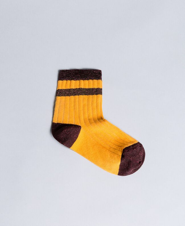 Ribbed lurex socks Brandy Woman AA8P6A-01