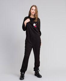 Salopette avec poche avant et broches Noir Femme JA82S1-03