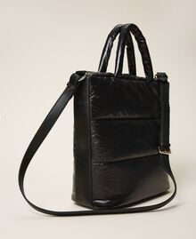 Quilted shopper with logo Black Woman 202MO8021-04