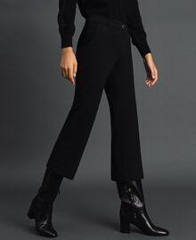 Pantalon évasé Noir Femme 192TP2092-02
