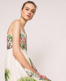 Vestido largo con estampado de flores Estampado Jungle Flowers Nieve Mujer 201TT2483-04