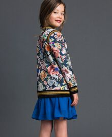Scuba bomber jackets with floral and graffiti print Graffiti Print Child 192GJ2493-03