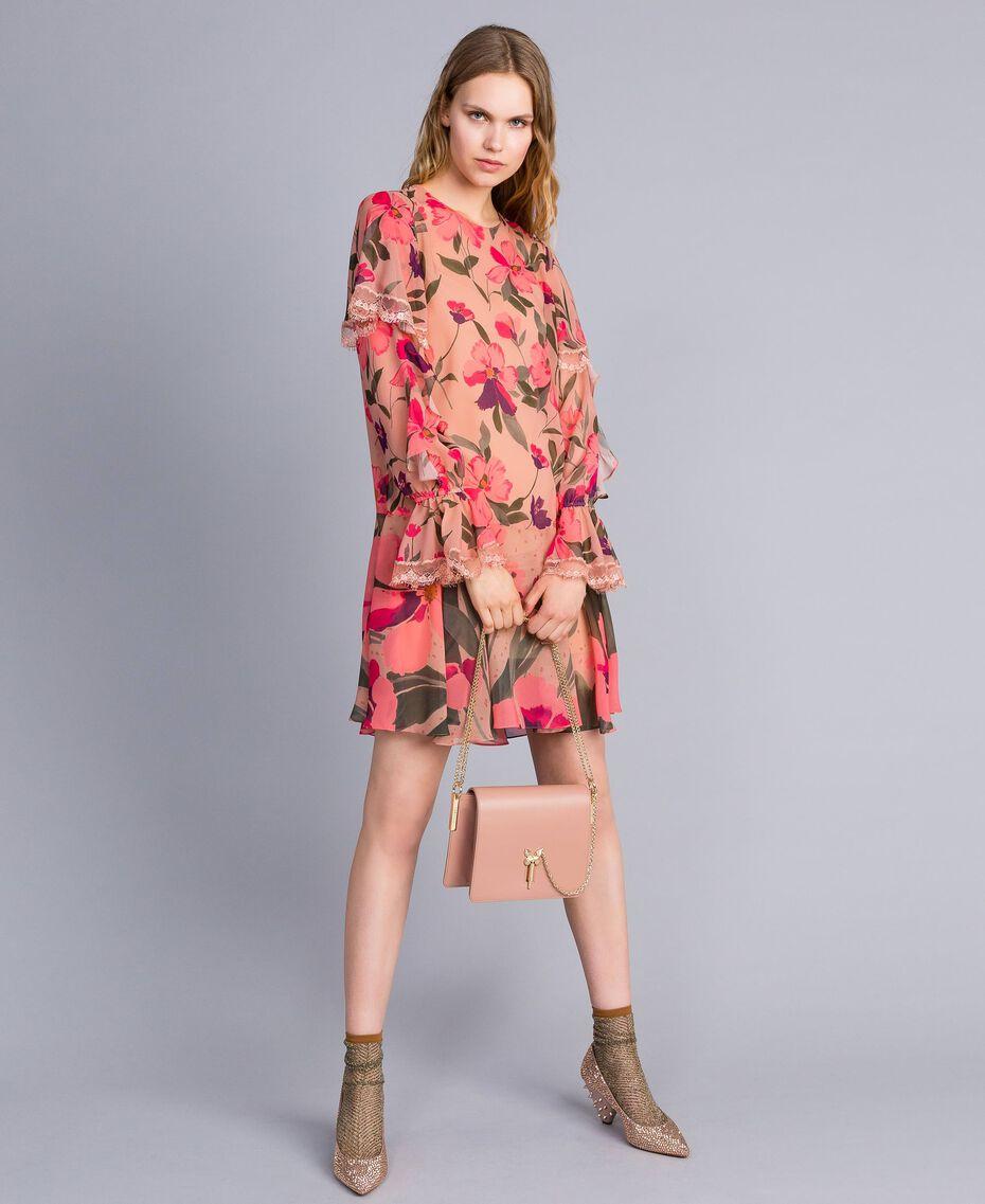 Sac à bandoulière en cuir Rose PâlePapillon Femme OA8TEA-0T