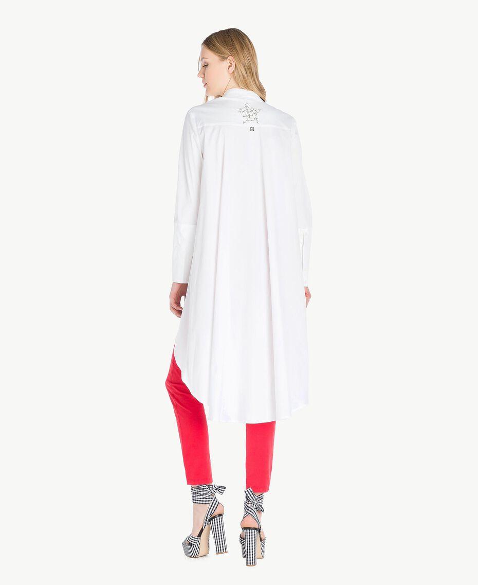 Maxi chemise asymétrique Blanc Femme JS82DL-03