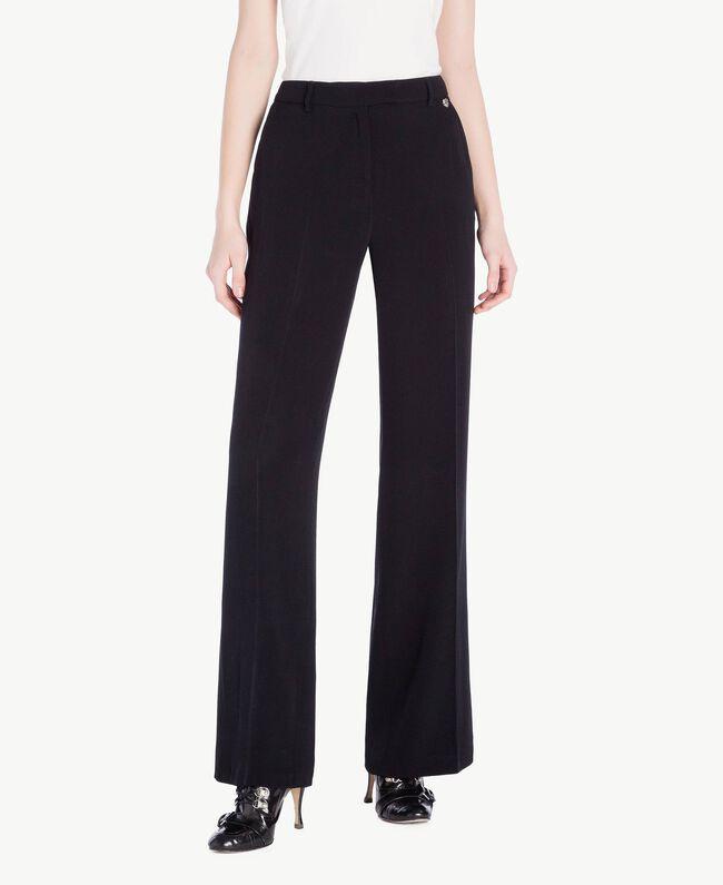 Pantalon palazzo cady Noir Femme PS829D-01