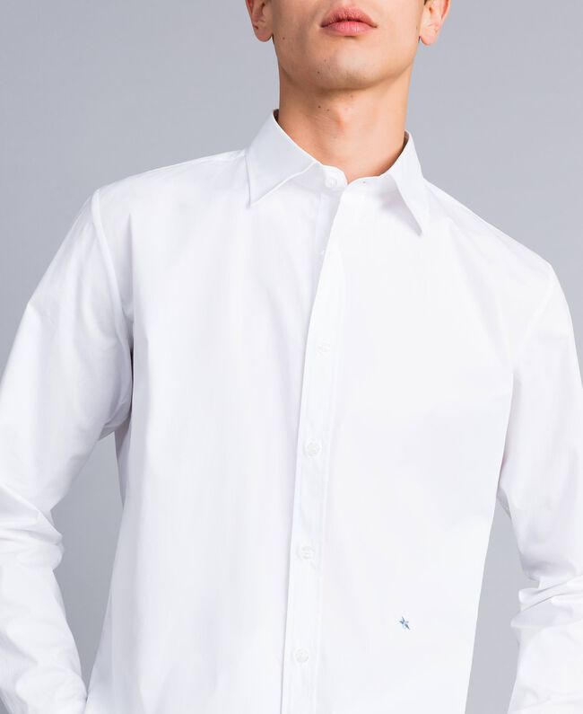 Camicia in cotone stretch Madreperla Uomo UA82EN-04