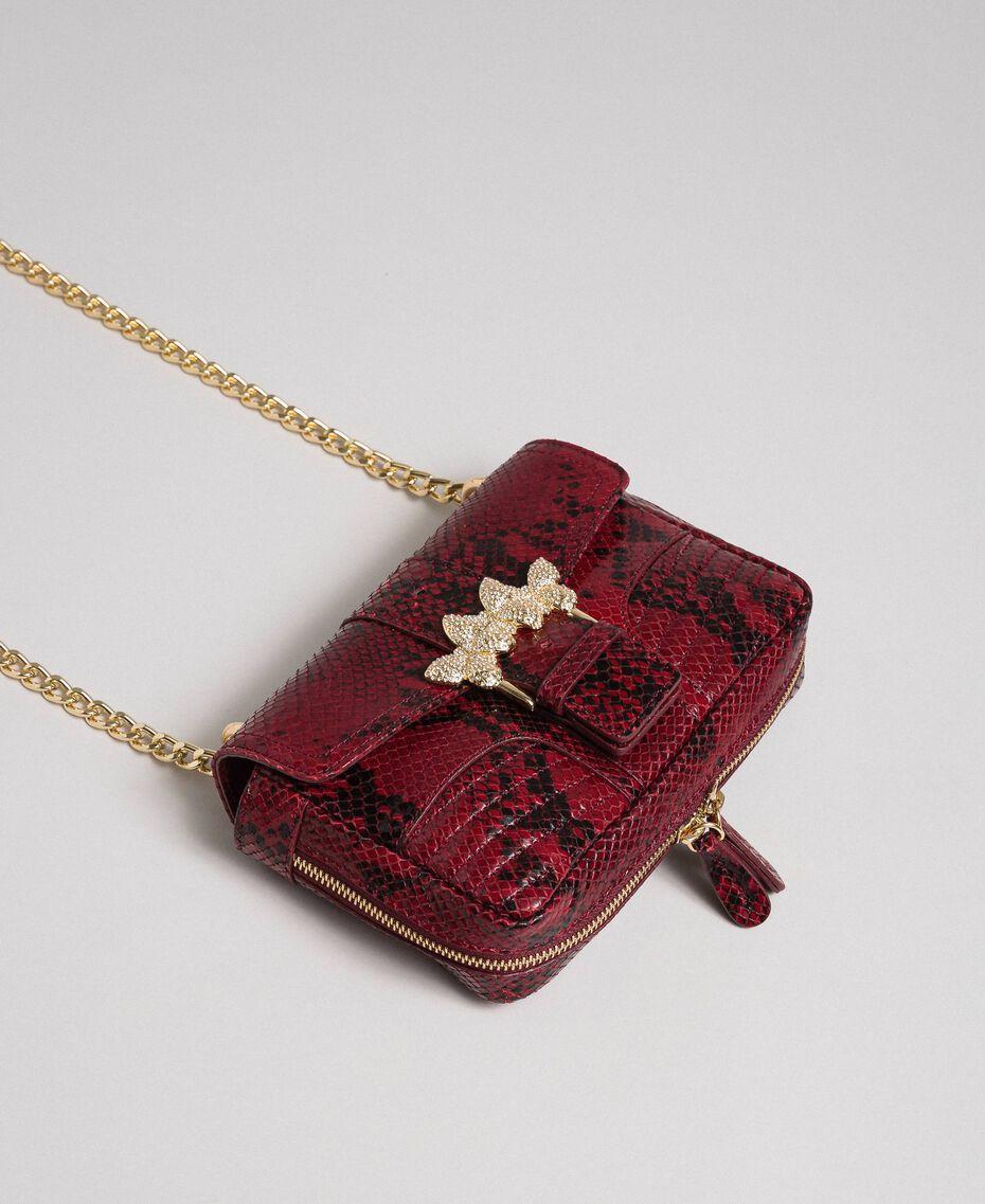 Маленькая сумка через плечо Rebel с питоновым принтом Питоновый Принт Красная Свекла женщина 192TO7231-01
