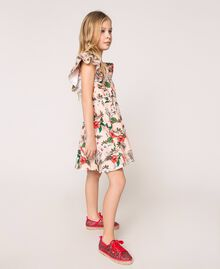 "Printed poplin dress ""Savannah"" Pink Print Child 201GJ2330-02"