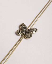 Adjustable necklace with butterfly Brass Woman 191TO534H-02