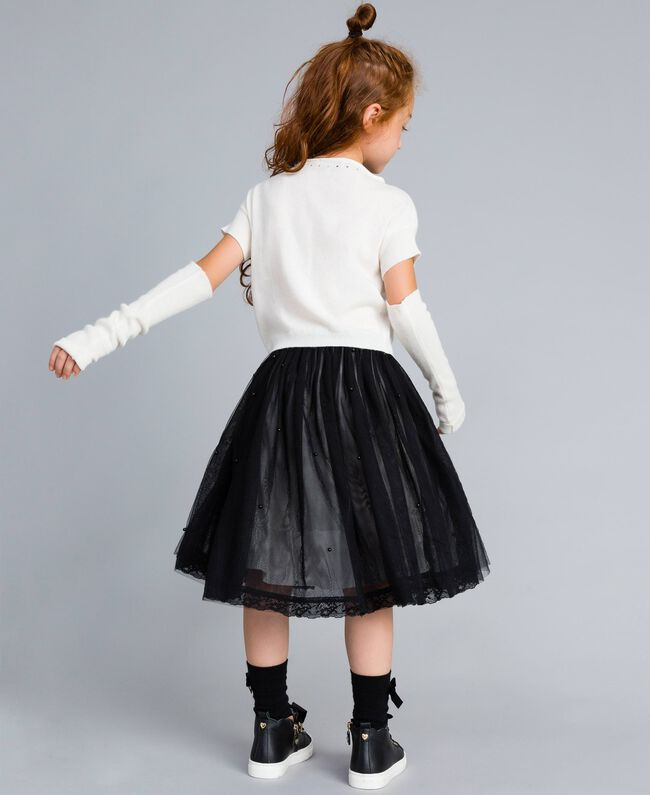 Cashmere blend jumper with embroideries Off White Child GA83CB-03