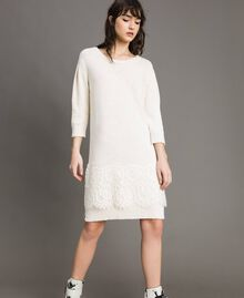 Knit dress with lace White Snow Woman 191TP3200-02