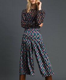 Falda pantalón con estampado y pliegues Estampado Geométrico Zorro Mujer 192ST2142-01
