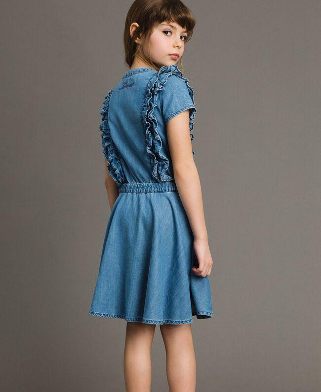 Denim dress with ruches Soft Denim Child 191GJ2562-03