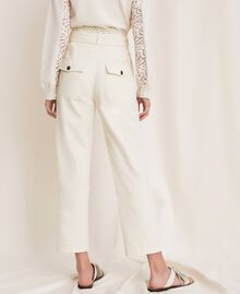 "Canvas trousers with broderie anglaise ""Dune"" Beige Woman 201TP2015-04"
