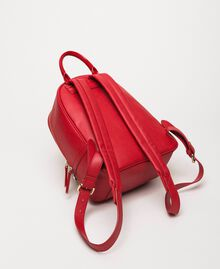 Quilted faux leather backpack with charms Venetian Red Woman 201MA7042-02