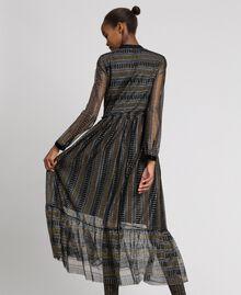 Lurex lace long dress Black Woman 192TT2360-03
