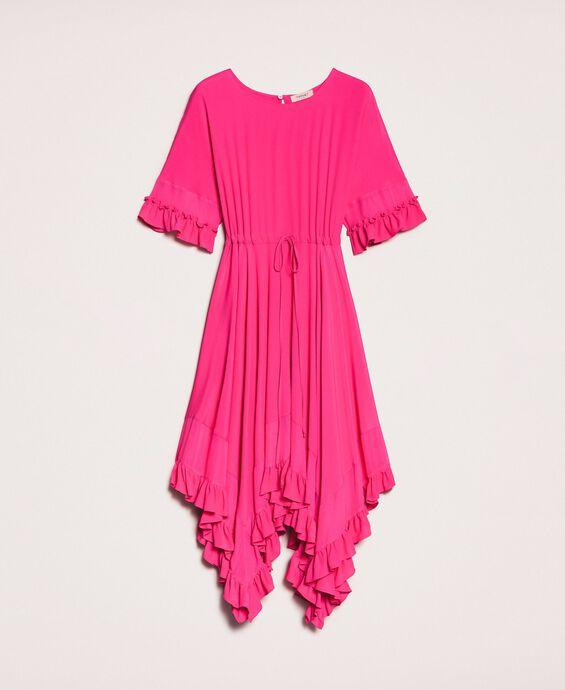 Silk blend crêpe de Chine dress