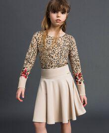 Jupe corolle avec plis Avoine Enfant 192GJ2131-01