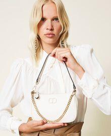Bolso de hombro con cadena y logotipo Negro Mujer 212TB7050-0S