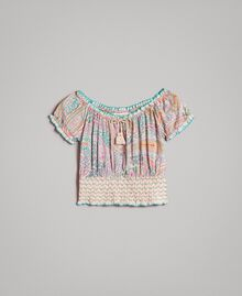 Muslin blouse with paisley print Paisley Print Child 191GJ2512-01