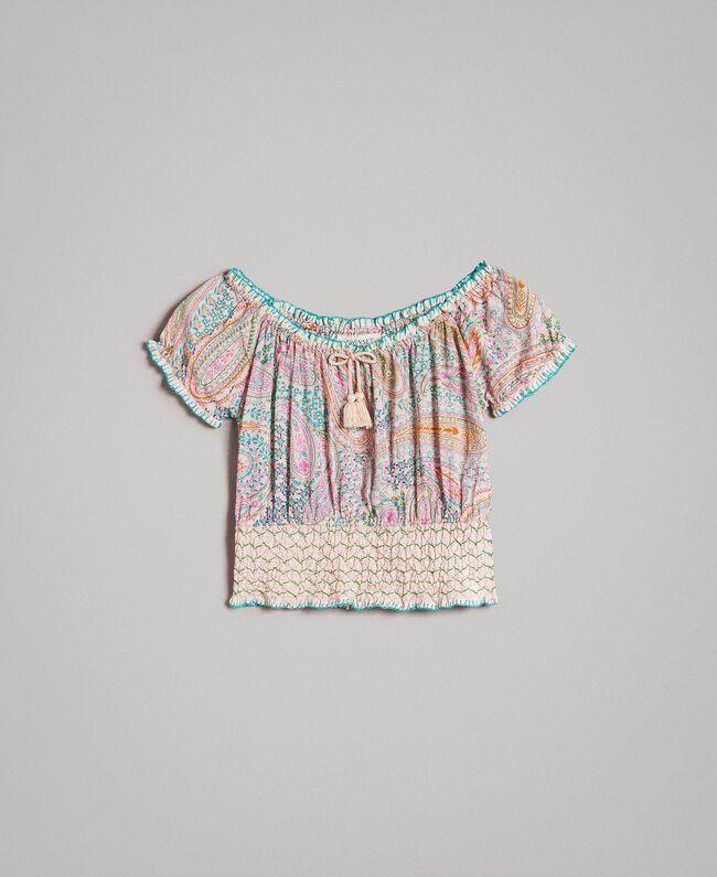 Muslin blouse with paisley print Paisley Print Child 191GJ2512-01