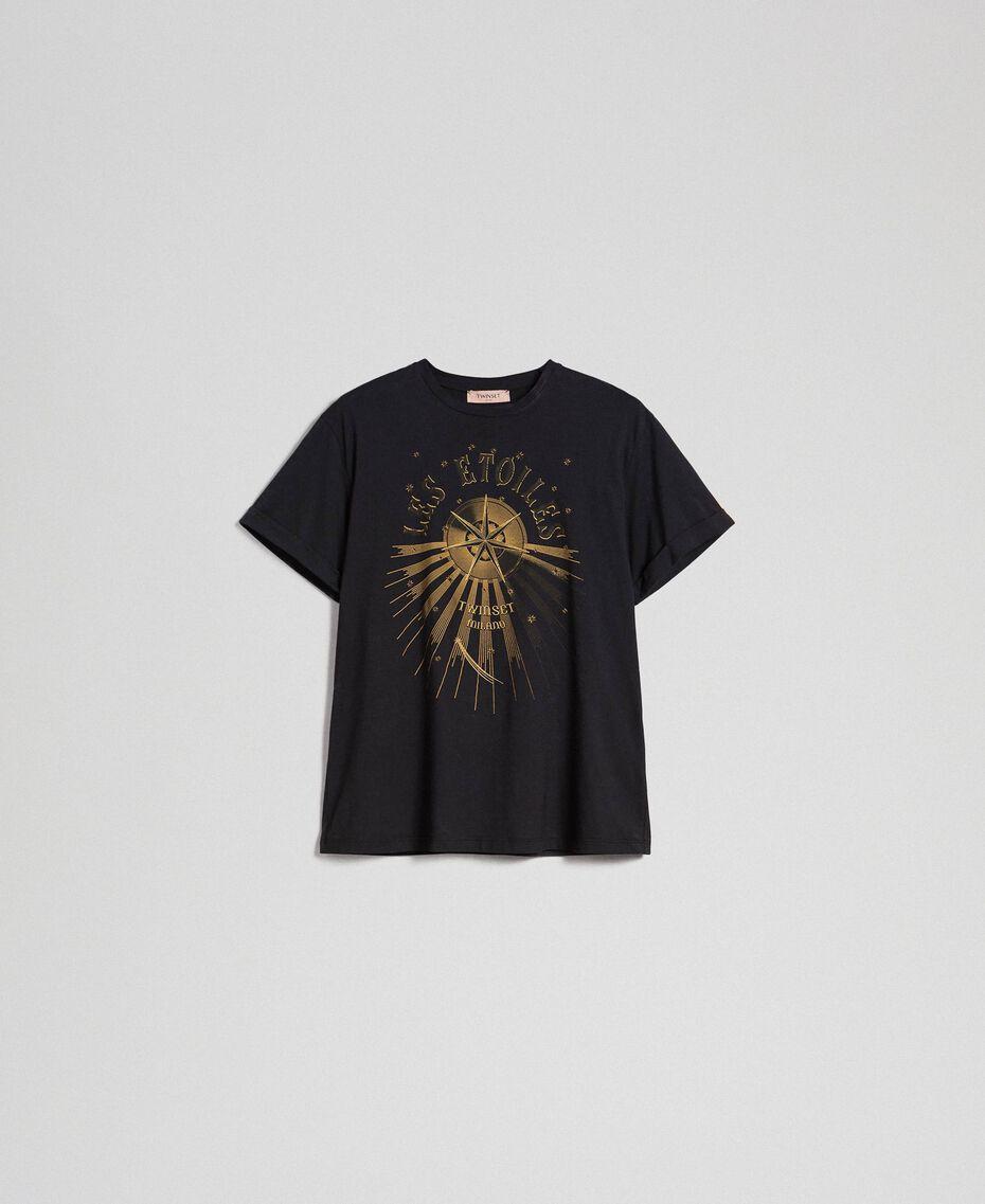 T-shirt con stampa Nero Donna 192TT2561-0S