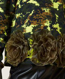 Felpa 'Silver' camouflage con rose Stampa Mimetic Green Donna 212AP2320-06