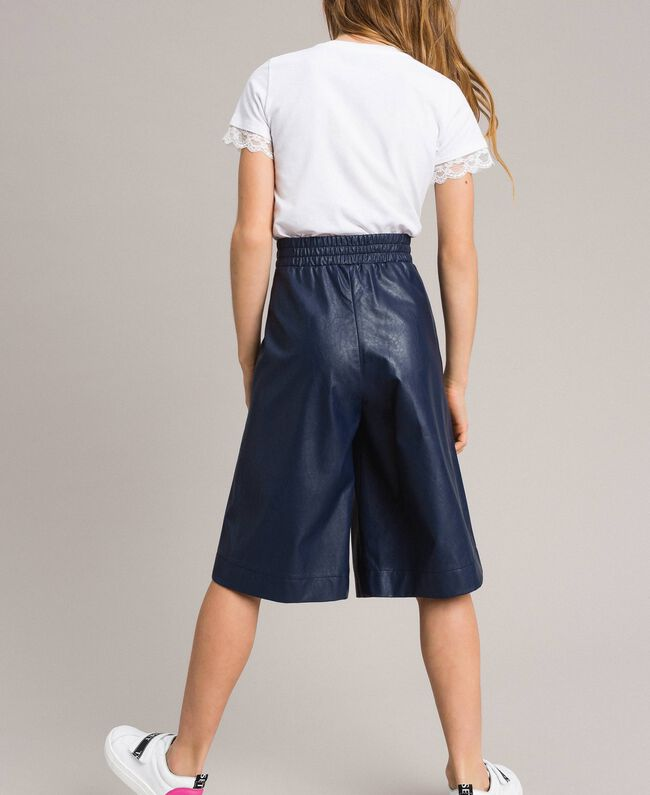 Pantalon cropped en similicuir Indigo Enfant 191GJ2100-03
