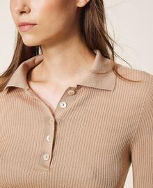"Ribbed wool jumper ""Pastel Skin"" Beige Woman 202TT3080-04"
