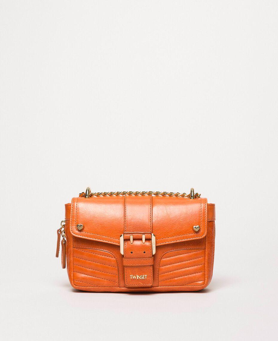 "Small Rebel leather shoulder bag ""Jasper"" Red Woman 999TA7237-01"