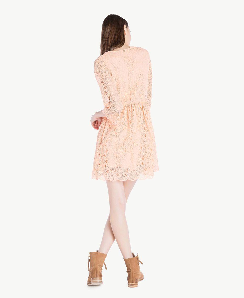 Kleid mit Spitze Rosafarbener Sonnenaufgang Frau SS82LE-03